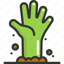halloween, hand, zombie icon