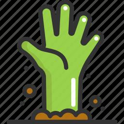 halloween, hand, zombie icon
