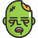 face, halloween, zombie icon