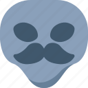 alien, emoji, emoticon, mustache, universe icon