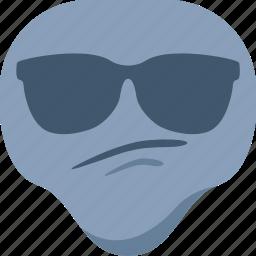 alien, cool, emoji, emoticon, sunglasses, universe icon
