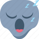 alien, emoji, emoticon, sleep, sleepy, universe icon