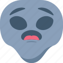 alien, emoji, emoticon, surprised, universe, wondering icon