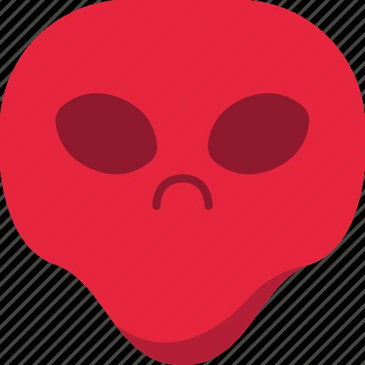 alien, angry, emoji, emoticon, evil, universe icon