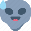 alien, drop, emoji, emoticon, laugh, universe icon