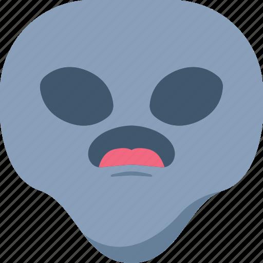 alien, emoji, emoticon, surprised, universe, wow icon