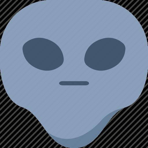 alien, emoji, emoticon, faceless, flat face, universe icon