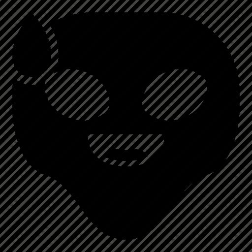 alien, drop, laugh, universe icon