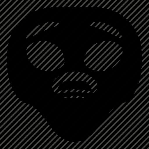 alien, sad, surprised, universe icon