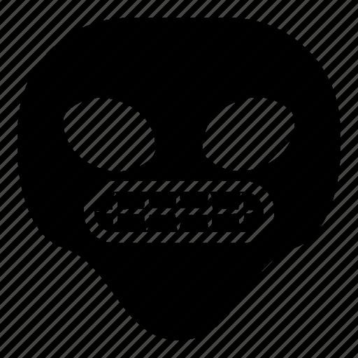 alien, smile, smile teeth, universe icon