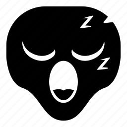 alien, sleep, sleepy, universe icon