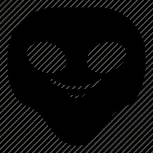 alien, smile, smirk, universe icon