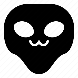 alien, cat mouth, universe, uwu icon