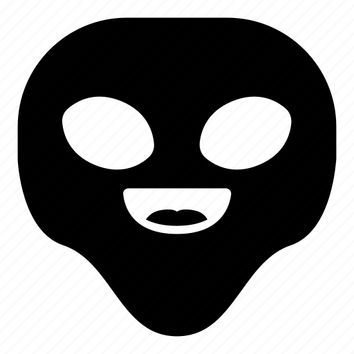 alien, happy, laugh, universe icon