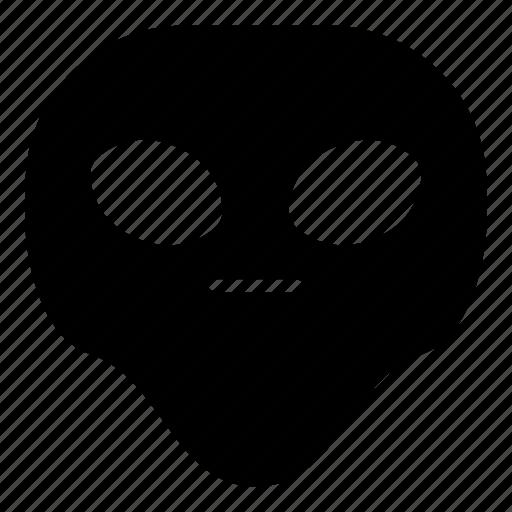 alien, faceless, flat face, universe icon