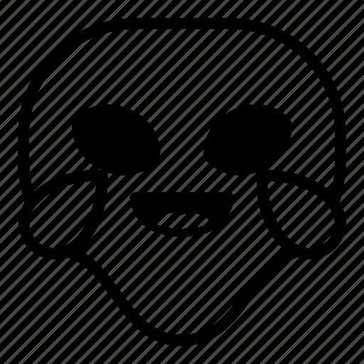 alien, drop, laugh, lol, universe icon