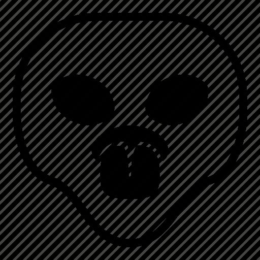 alien, taunt, tongue, universe icon