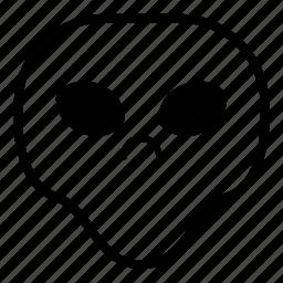 alien, angry, sad, universe icon