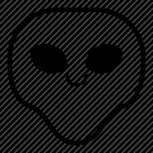 alien, smile, universe icon