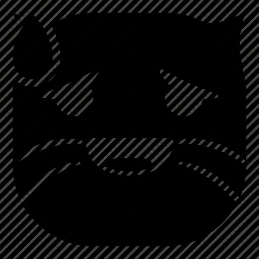 cat, drop, laugh, pet icon