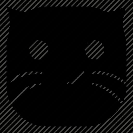 cat, pet, smile, smirk icon