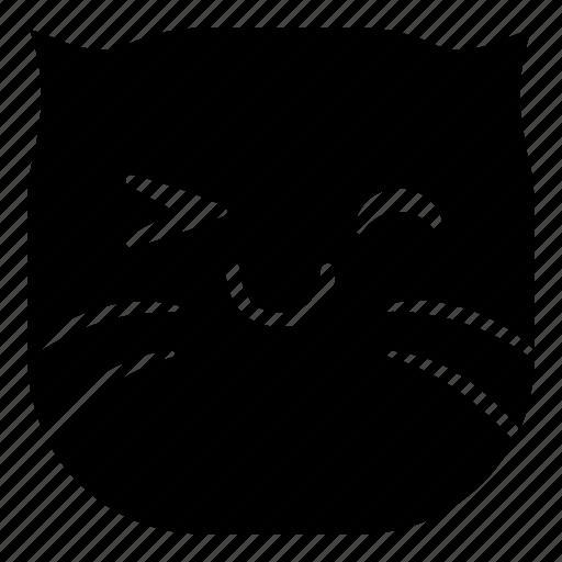 cat, happy, okay, pet icon