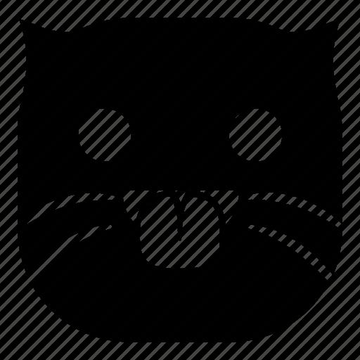 cat, pet, taunt, tongue icon