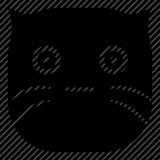 cat, pet, surprised, wondering icon