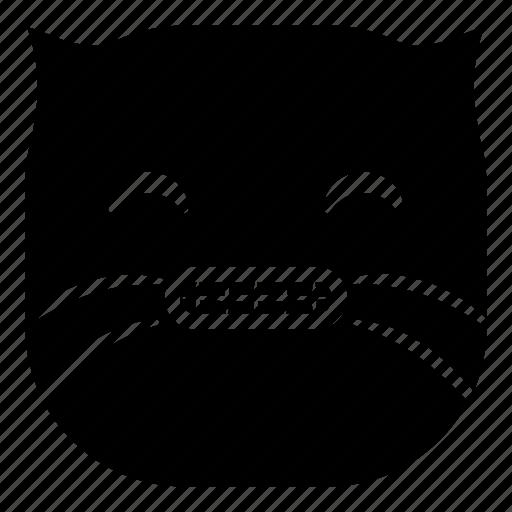 cat, pet, smile teeth icon