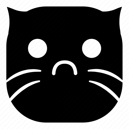 cat, disappointed, pet, sad icon