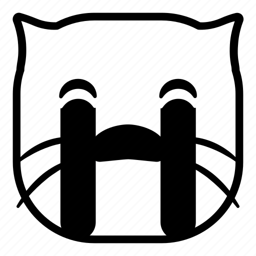 cat, cry, drops, pet, tears icon