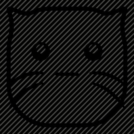 cat, faceless, flat face, pet icon
