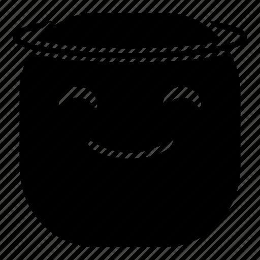 angel, emoji, emoticon, smile, smiley icon