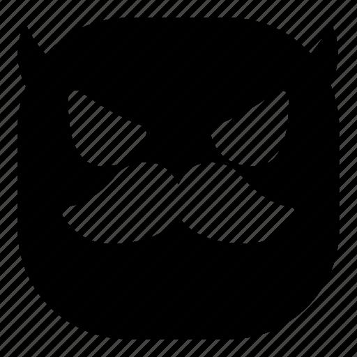 angry, devil, emoji, emoticon, mustache, smiley icon