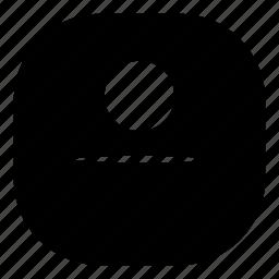 cyclops, emoji, emoticon, faceless, flat face, smiley icon