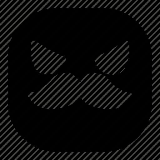 angry, emoji, emoticon, evil, mustache, smiley icon