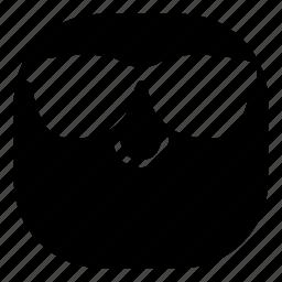 emoji, emoticon, smile, smiley, sunglasses icon