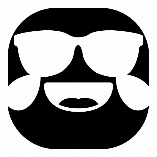 drops, emoji, emoticon, laugh, smiley, sunglasses icon