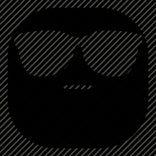 cool, emoji, emoticon, faceless, smiley, sunglasses icon