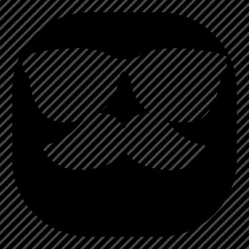 cool, emoji, emoticon, mustache, smiley, sunglasses icon
