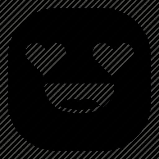 emoji, emoticon, love, lovely, smiley icon