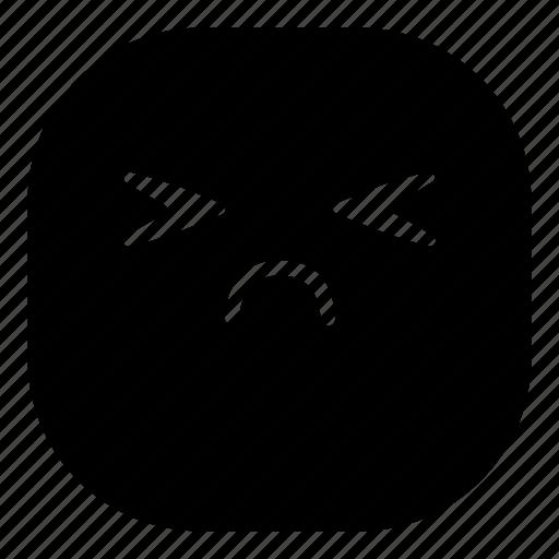 disappointed, emoji, emoticon, sad, sick, smiley icon