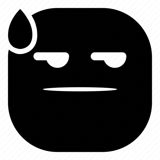 drop, emoji, emoticon, faceless, flat face, smiley icon