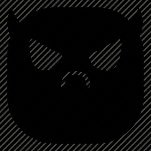 angry, devil, emoji, emoticon, evil, smiley icon