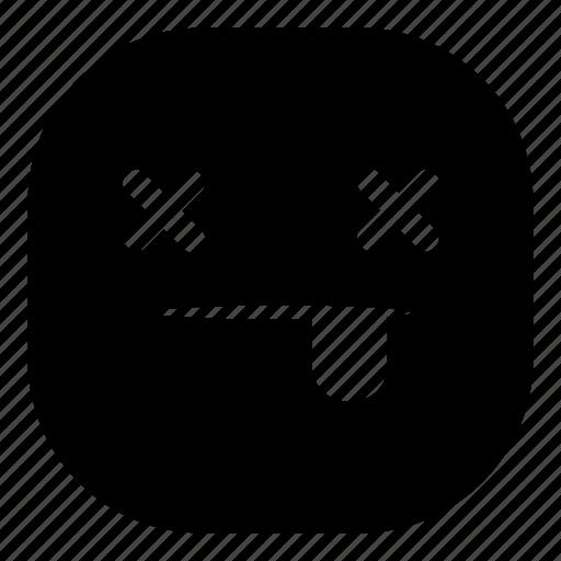 dead, death, die, emoji, emoticon, smiley icon