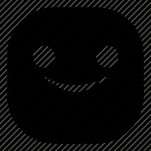 emoji, emoticon, smile, smiley, smirk icon