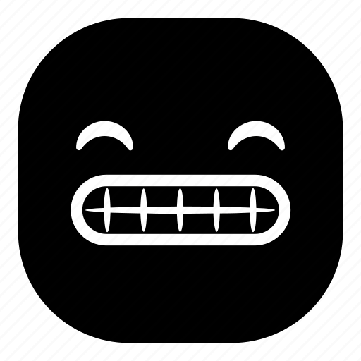 emoji, emoticon, smile teeth, smiley icon