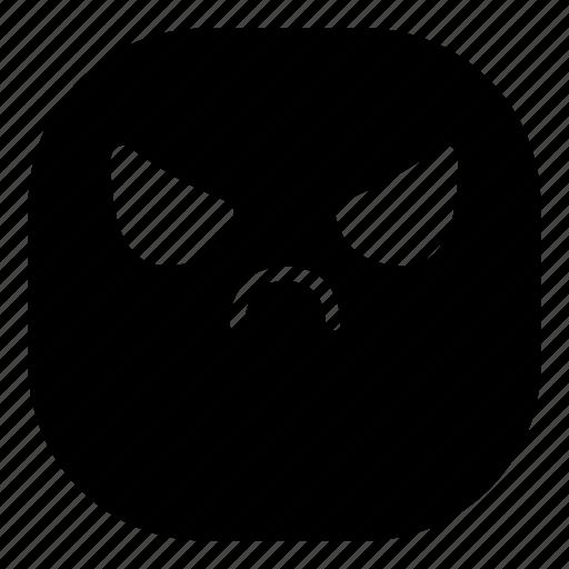 angry, emoji, emoticon, evil, smiley icon