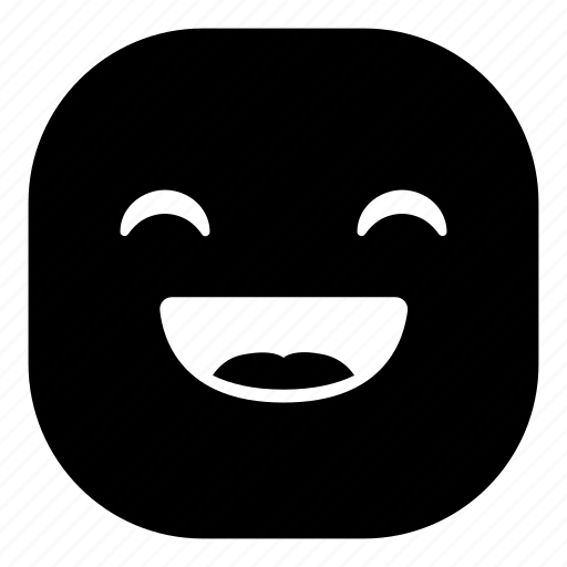 emoji, emoticon, happy, laugh, smiley icon