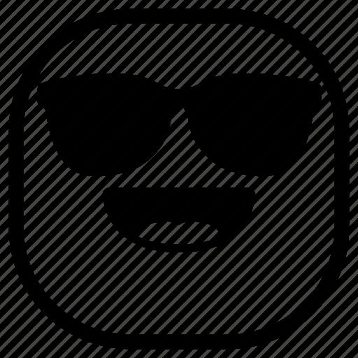 cool, emoji, emoticon, laugh, smiley, sunglasses icon